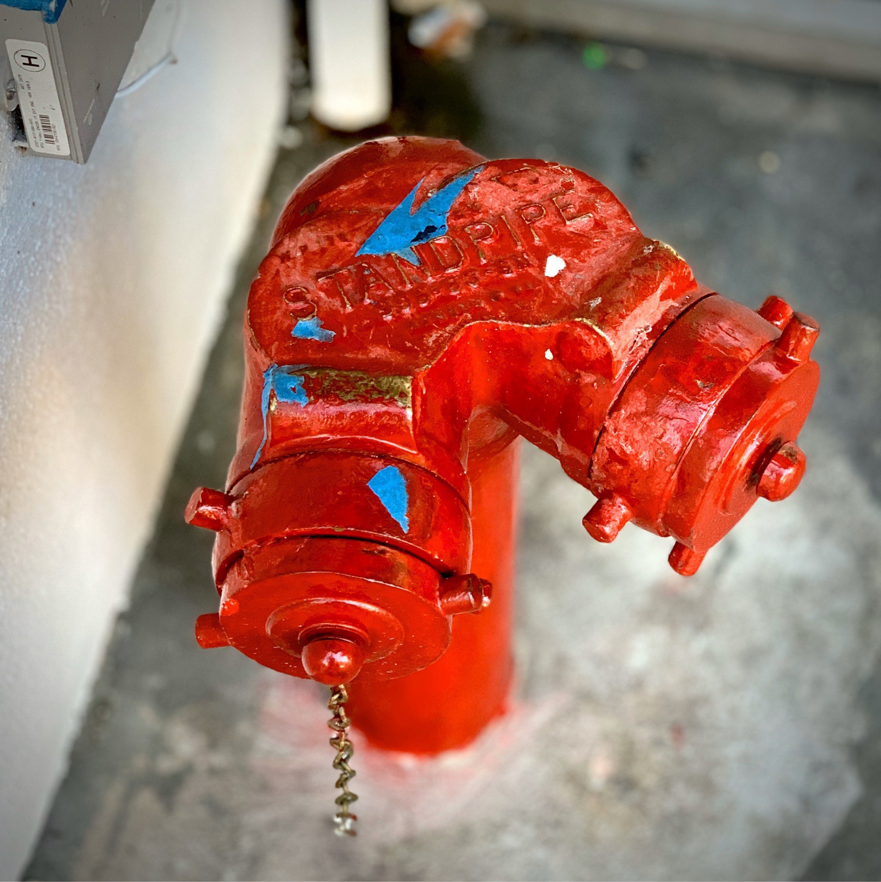 Siamese Firefighter water valve.