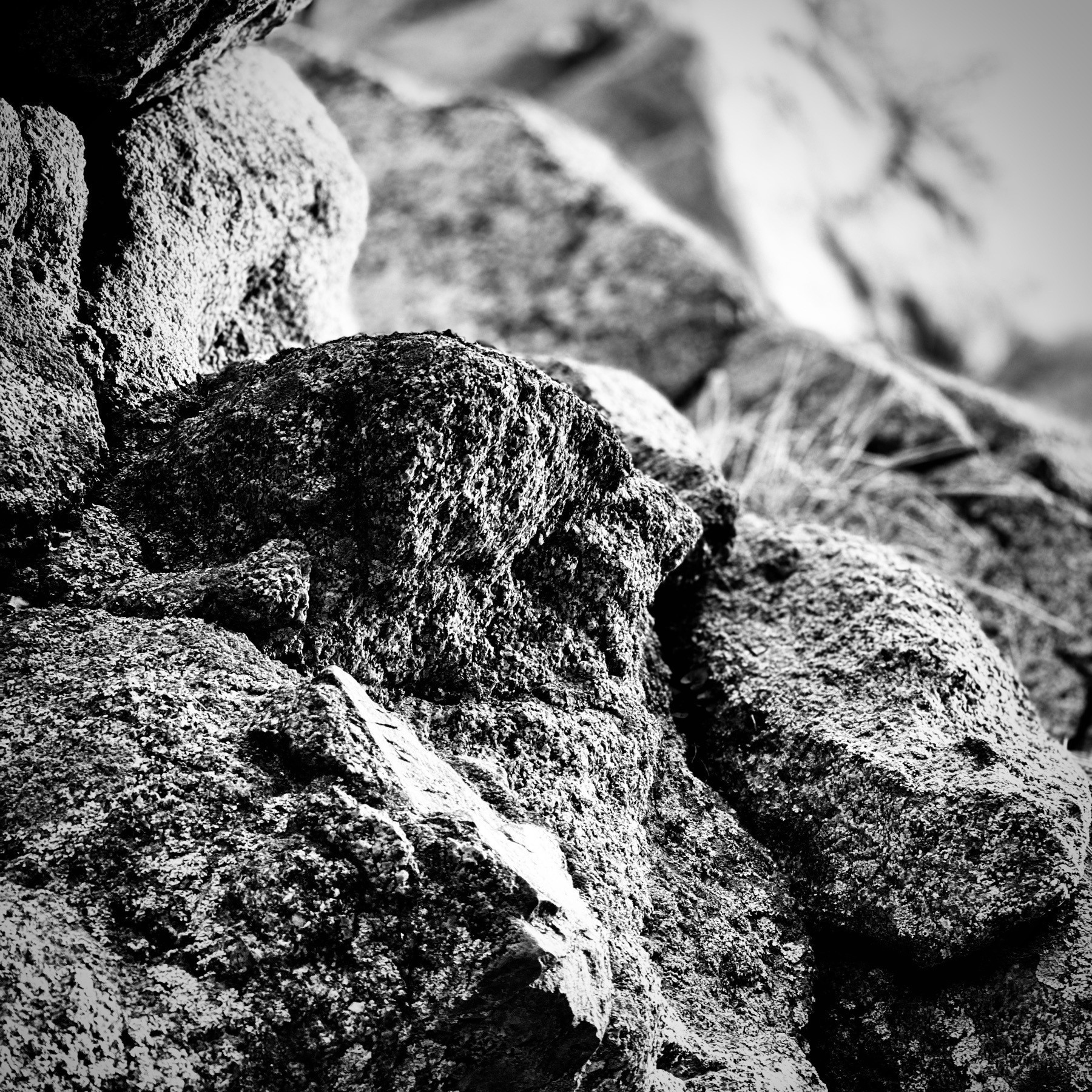 Black and White rocks.