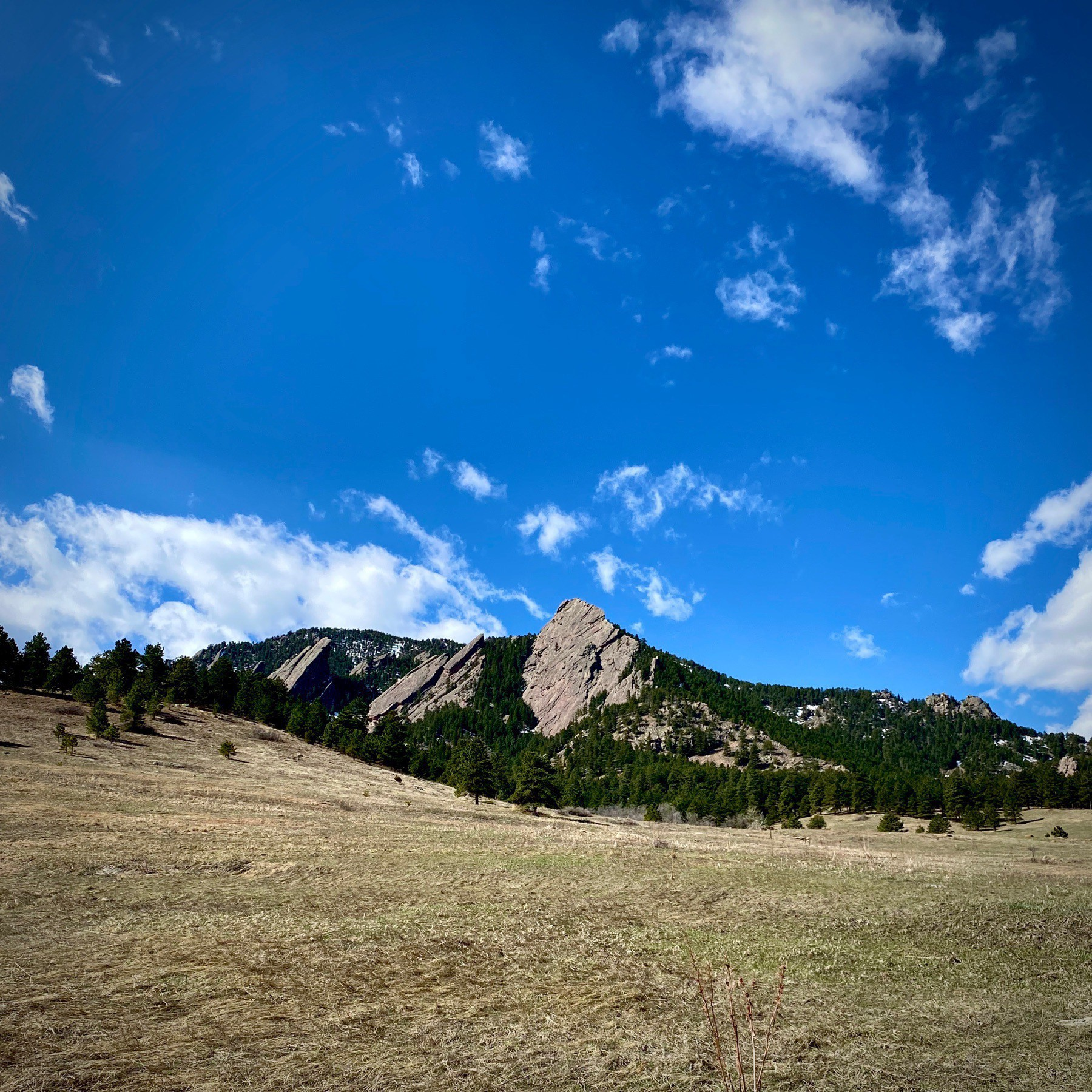 Flat Iron Mountains and blue sky.